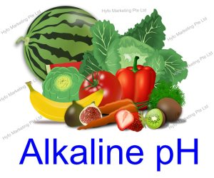 alkaline water of pH 9