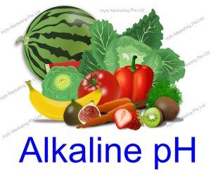 alkaline water of pH 9