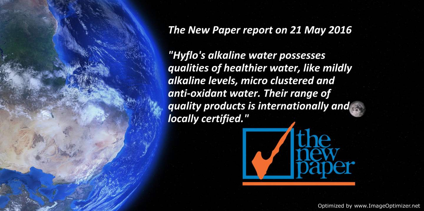 Singapore newspaper endorsed Hyflo water purifier quality