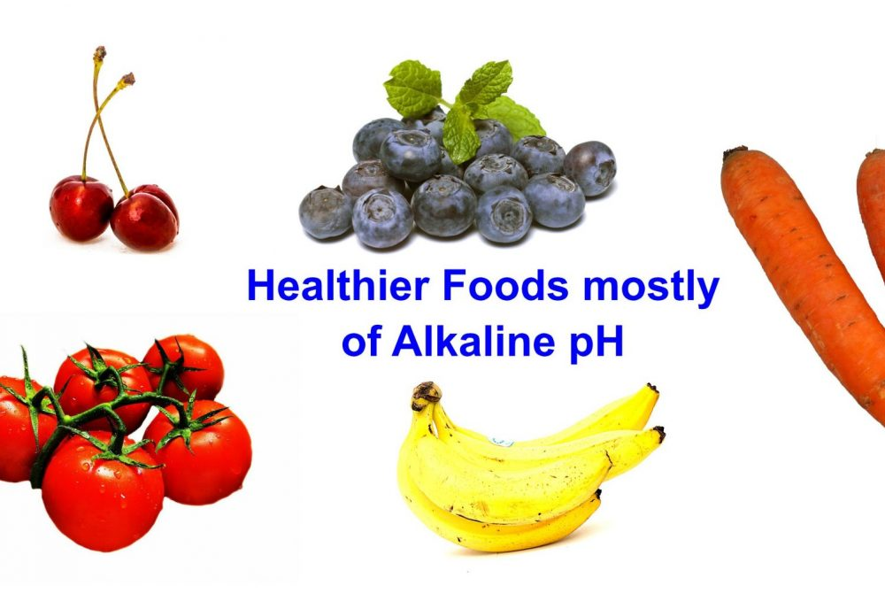 Alkaline water pH level is similar with most fresh fruits and vegetables