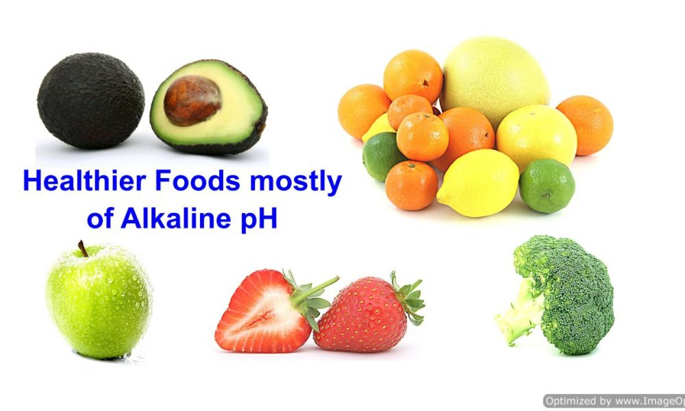 Fresh fruits and veggies mostly alkaline pH and are anti-oxidant. Just like alkaline water