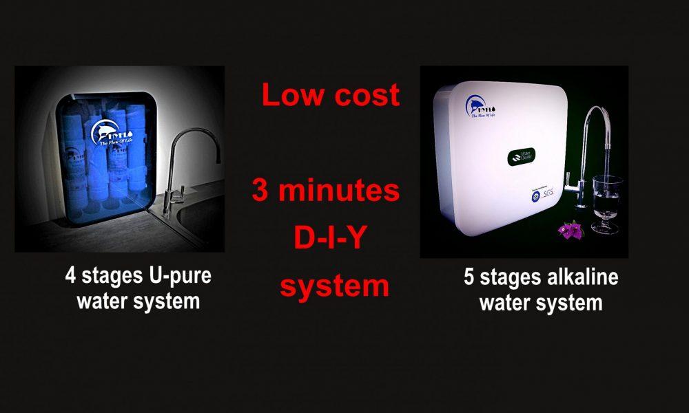 self fix alkaline water purifier in 3 minutes